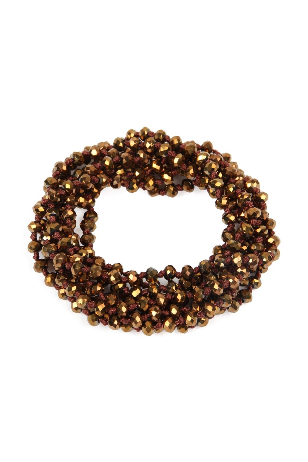 Riah Fashion Natural-Stone-Layered Beads-Necklace - Side Cropped Image