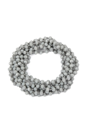 Riah Fashion Natural-Stone-Layered Beads-Necklace - Side cropped