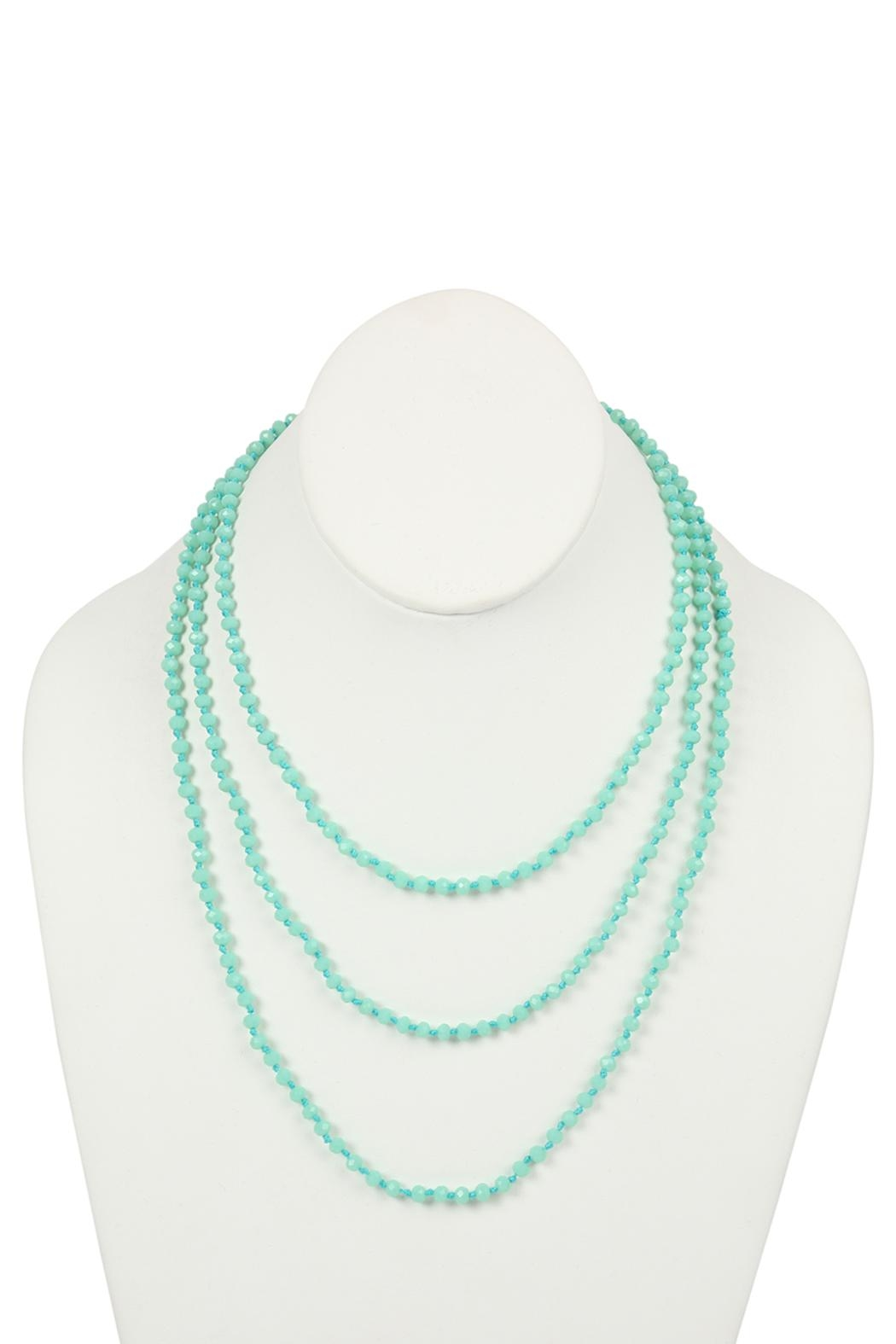 Riah Fashion Natural-Stone-Layered Beads-Necklace - Front Cropped Image