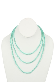 Riah Fashion Natural-Stone-Layered Beads-Necklace - Front cropped