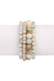 Riah Fashion Natural-Stone Multibead Stack-Bracelet - Front cropped