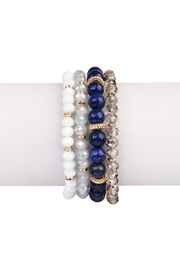 Riah Fashion Natural-Stone Multibead Stack-Bracelet - Product Mini Image