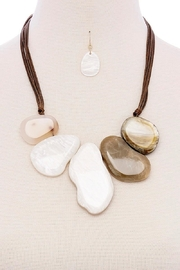 Fashion Jewelry Natural Stone Necklace - Front cropped