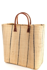 n/a Natural-Straw Black-Striped Bag - Product Mini Image
