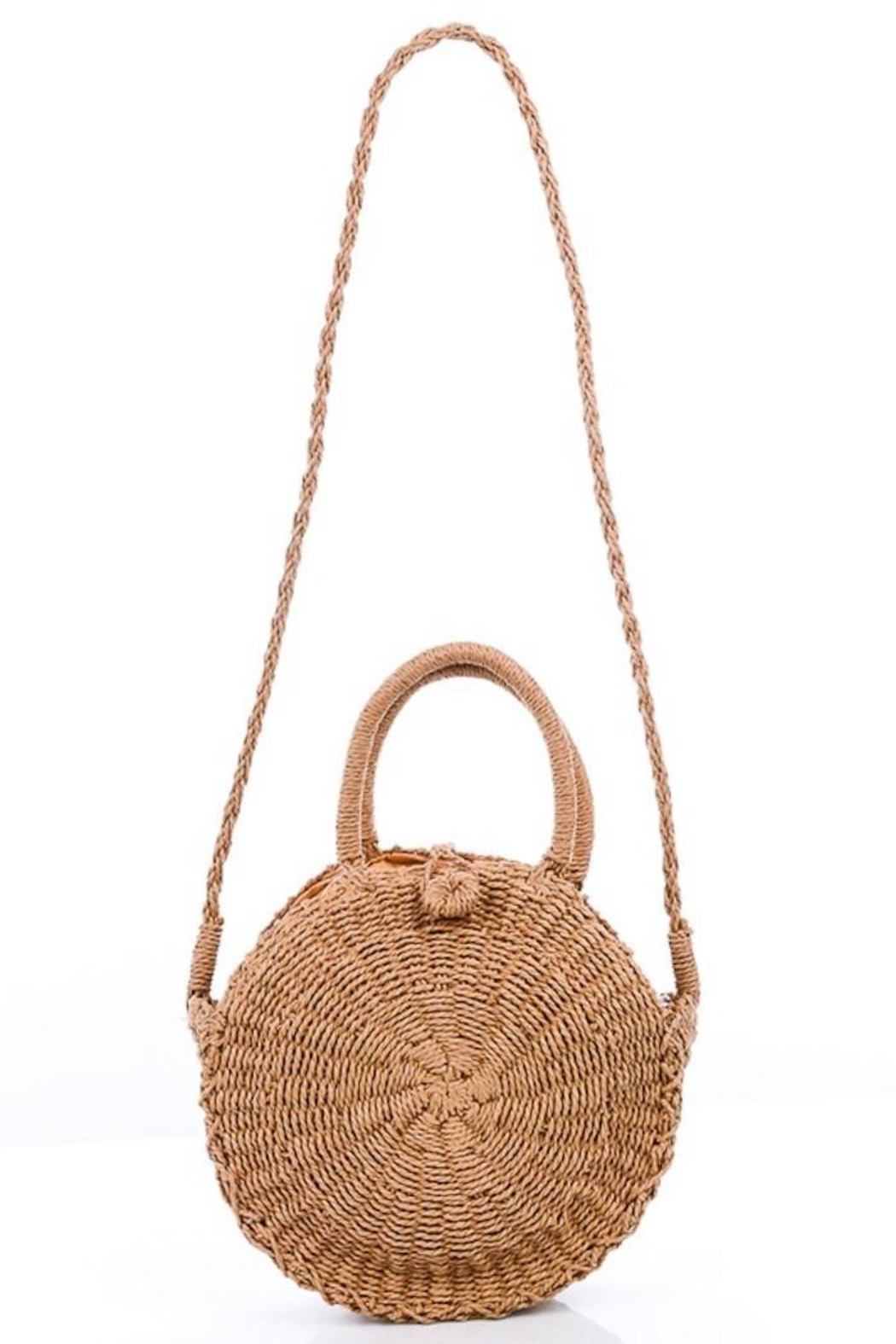Compendium boutique Natural Straw Purse - Front Cropped Image