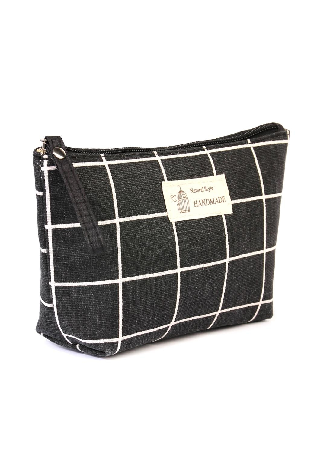 Riah Fashion Natural Style Cosmetic-Pouch - Front Full Image