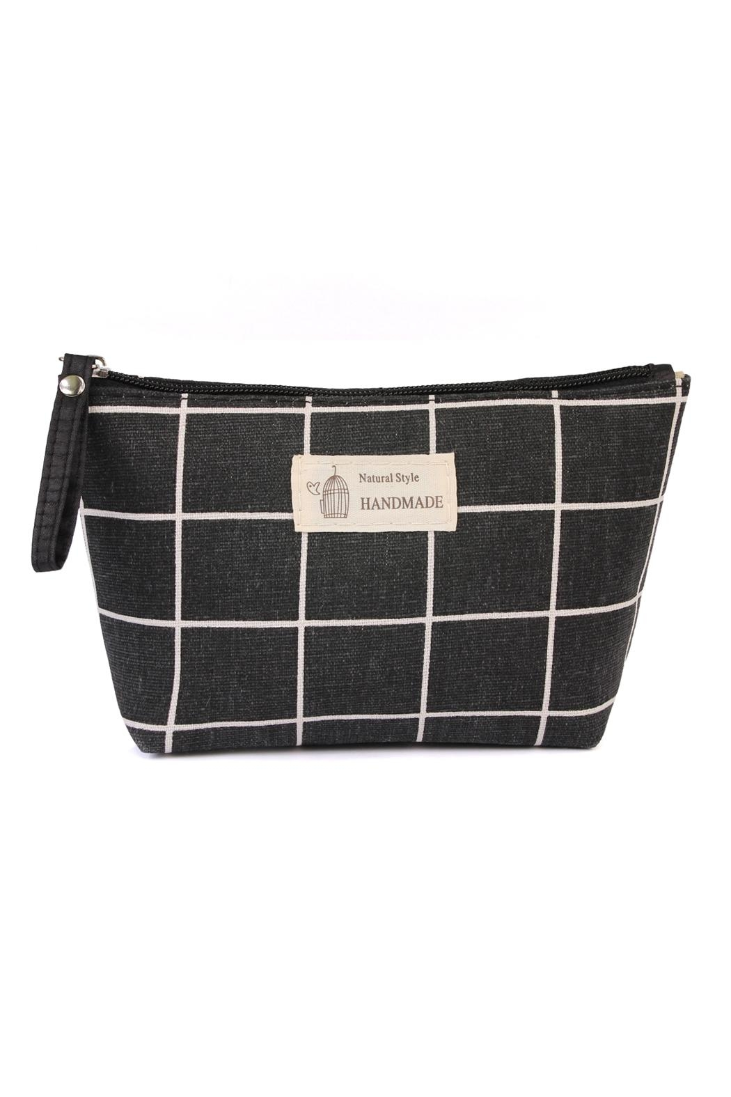 Riah Fashion Natural Style Cosmetic-Pouch - Main Image