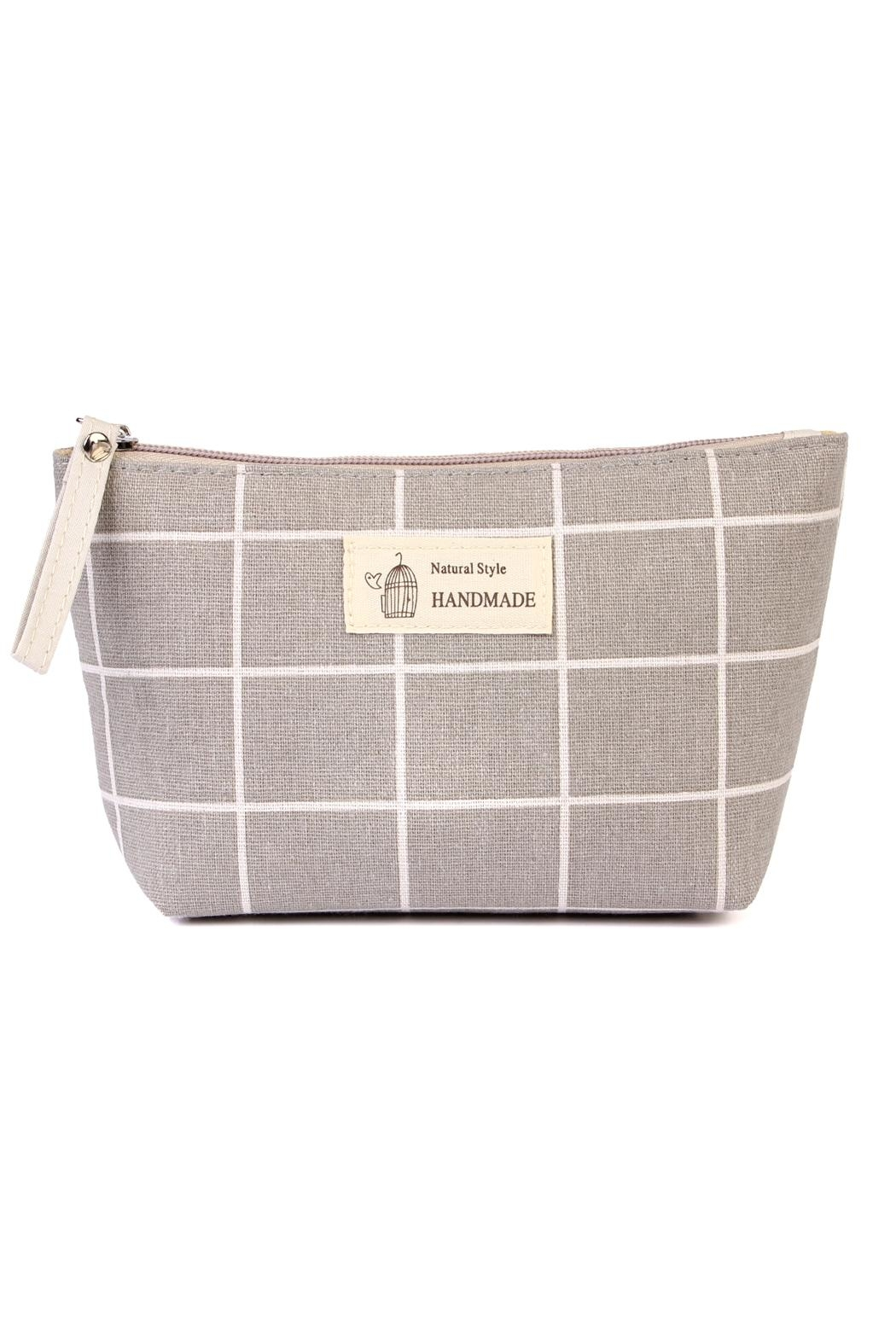 Riah Fashion Natural Style Cosmetic-Pouch - Front Cropped Image