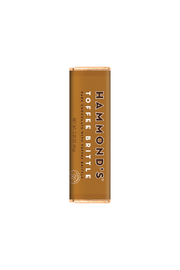 Hammond's Candies NATURAL TOFFEE BRITTLE DARK CHOCOLATE CANDY BAR - Front cropped