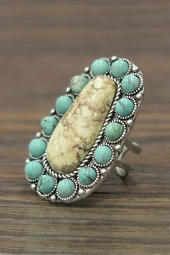 JChronicles Natural-Turquoise Adjustable Ring - Product List Image