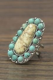JChronicles Natural-Turquoise Adjustable Ring - Product Mini Image
