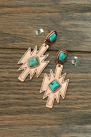 JChronicles Natural Turquoise Aztec-Earring - Product Mini Image