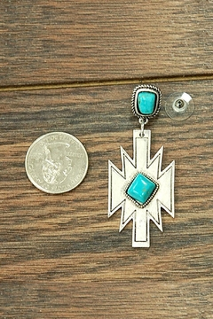 JChronicles Natural Turquoise Aztec-Earring - Alternate List Image