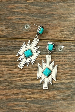 JChronicles Natural Turquoise Aztec-Earring - Product List Image