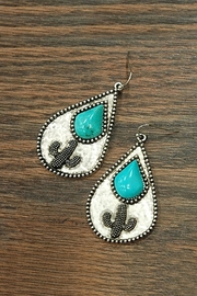 JChronicles Natural Turquoise Cactus-Earrings - Product Mini Image
