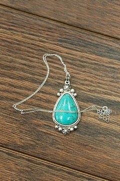 JChronicles Natural-Turquoise-Charm  Sterling-Silver-Chain Necklace - Product List Image