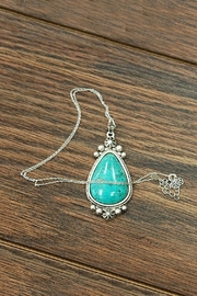 JChronicles Natural-Turquoise-Charm  Sterling-Silver-Chain Necklace - Product Mini Image