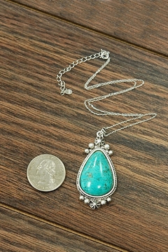 JChronicles Natural-Turquoise-Charm  Sterling-Silver-Chain Necklace - Alternate List Image