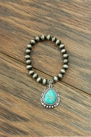 JChronicles Natural-Turquoise Charm Stretch-Bracelet - Product Mini Image
