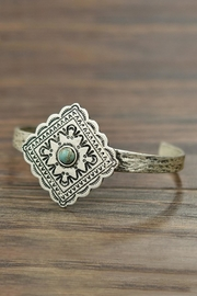 JChronicles Natural-Turquoise Concho Cuff-Bracelet - Product Mini Image