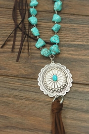 JChronicles Natural Turquoise Concho-Necklace - Front full body