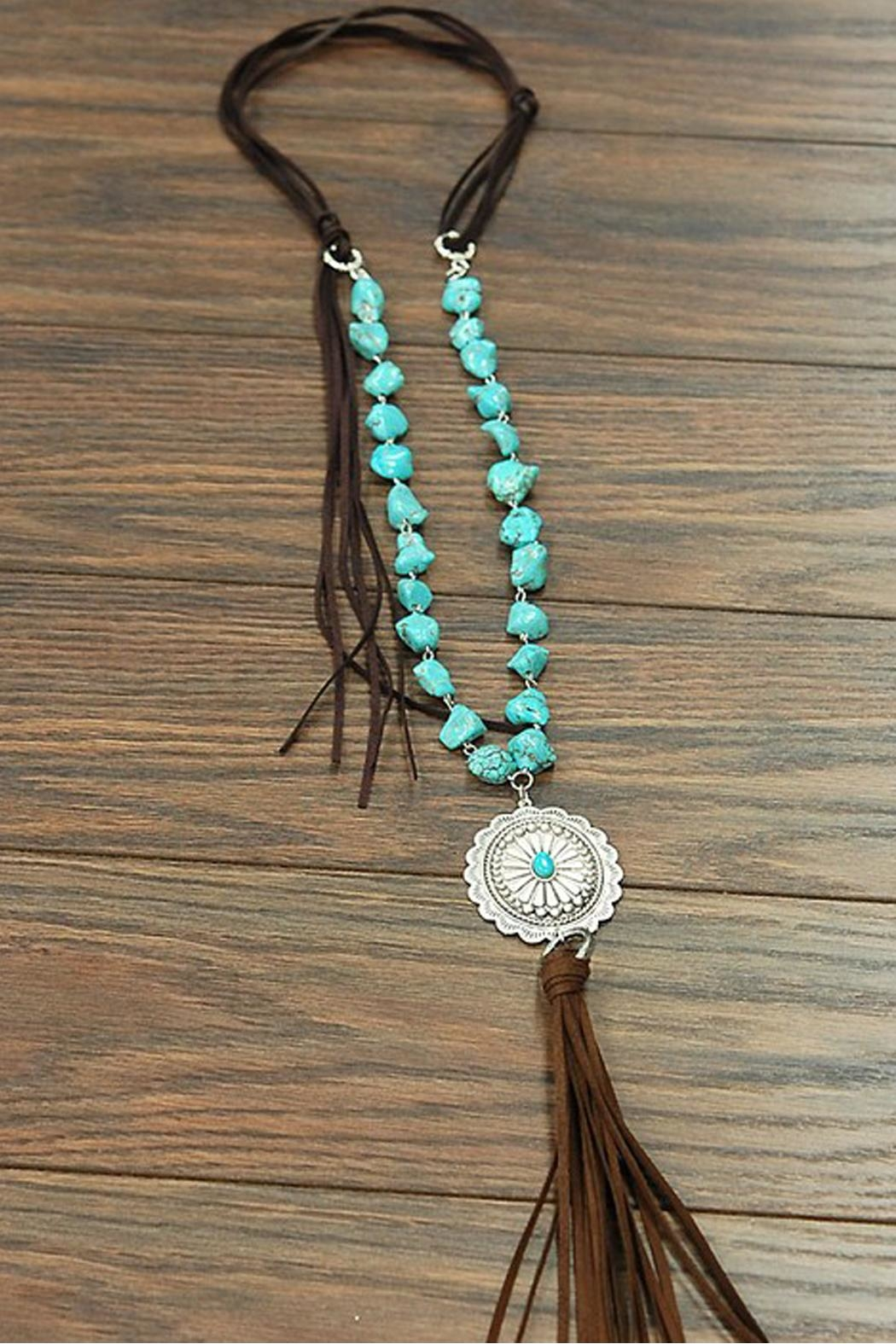 JChronicles Natural Turquoise Concho-Necklace - Main Image
