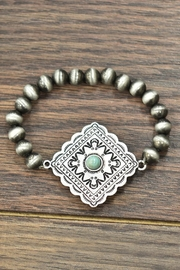 JChronicles Natural-Turquoise Concho Stretch-Bracelet - Product Mini Image