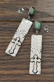 JChronicles Natural Turquoise Cross-Earrings - Product Mini Image