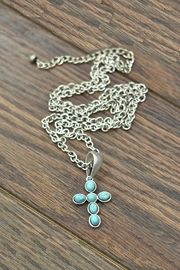JChronicles Natural Turquoise Cross-Necklace - Product Mini Image