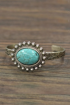 JChronicles Natural Turquoise Cuff-Bracelet - Product List Image