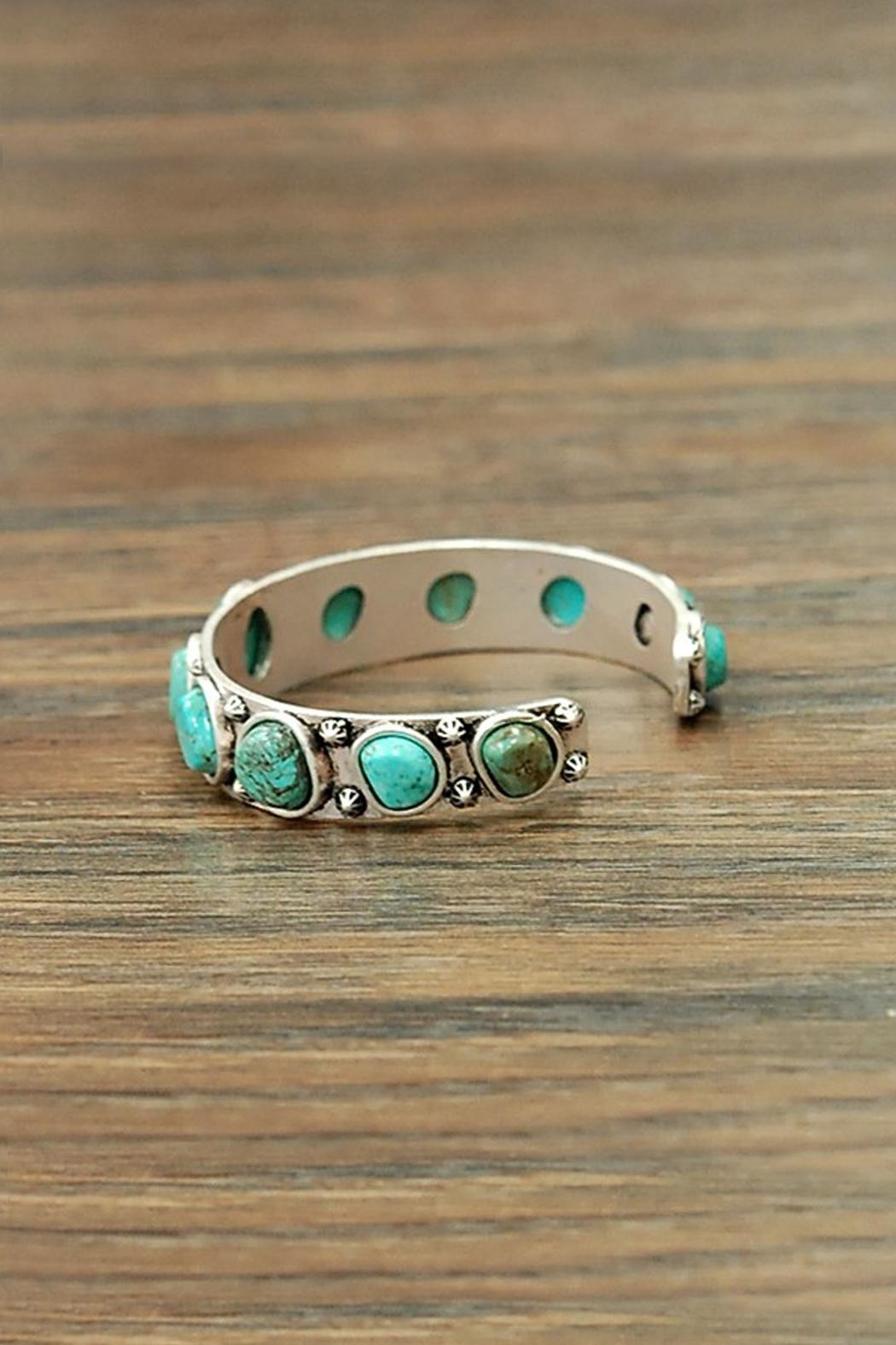 JChronicles Natural Turquoise Cuff-Bracelet - Side Cropped Image
