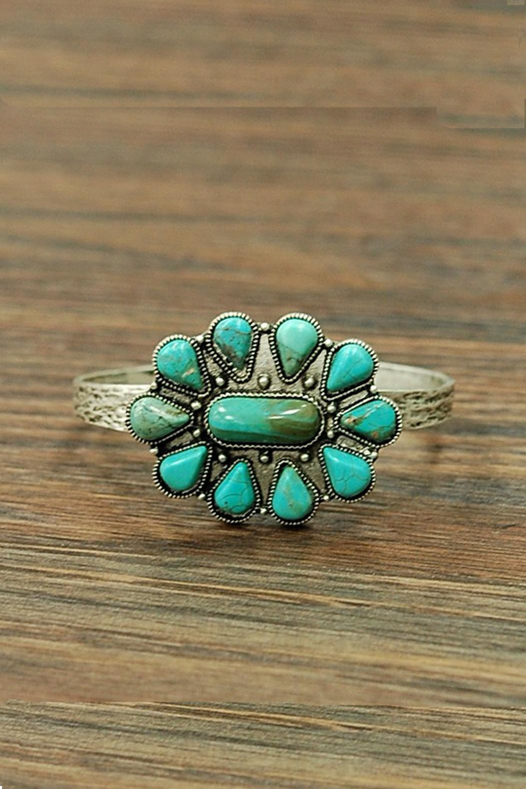 JChronicles Natural Turquoise Cuff-Bracelet - Main Image