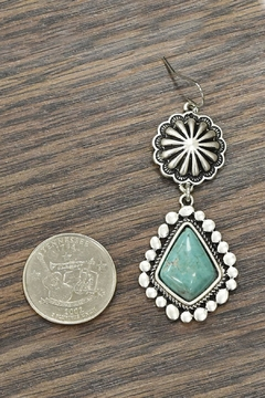 JChronicles Natural Turquoise Earrings - Alternate List Image