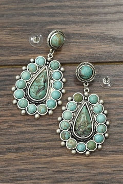 Shoptiques Product: Natural Turquoise Earrings