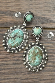 JChronicles Natural Turquoise Earrings - Front cropped