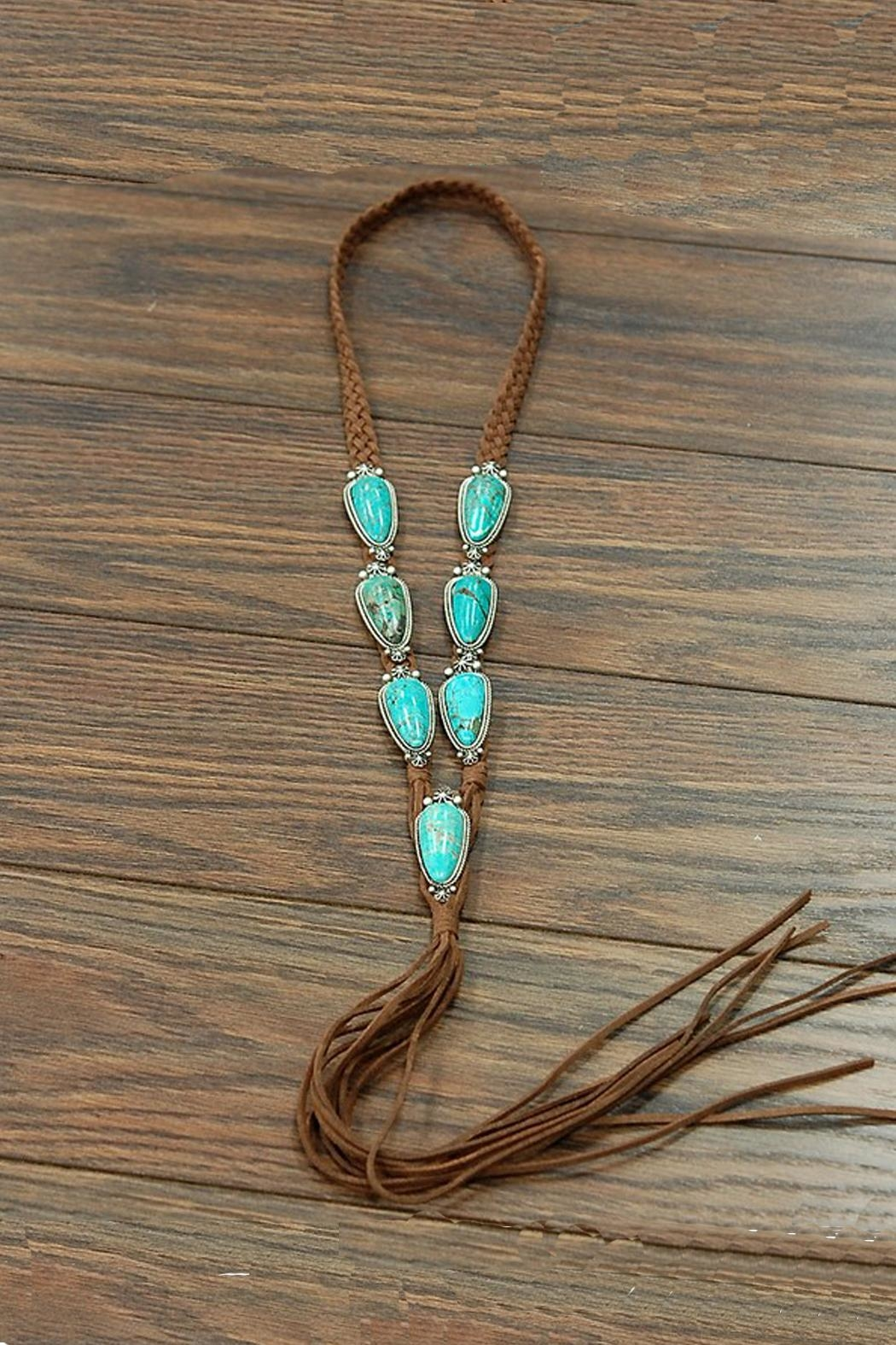 JChronicles Natural-Turquoise Long-Suade Necklace - Main Image