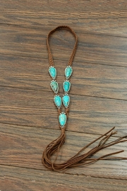 JChronicles Natural-Turquoise Long-Suade Necklace - Front cropped