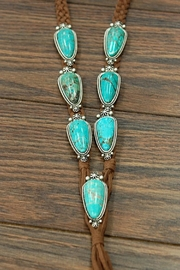 JChronicles Natural-Turquoise Long-Suade Necklace - Side cropped
