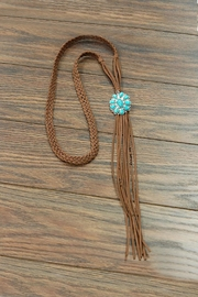 JChronicles Natural Turquoise Long-Suede-Necklace - Product Mini Image