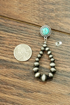 JChronicles Natural-Turquoise Navajo-Pearl Earring - Alternate List Image