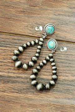 JChronicles Natural-Turquoise Navajo-Pearl Earring - Product List Image