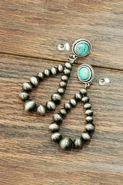 JChronicles Natural-Turquoise Navajo-Pearl Earring - Product Mini Image