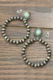 JChronicles Natural-Turquoise Navajo-Pearl Hoop-Earrings - Product Mini Image