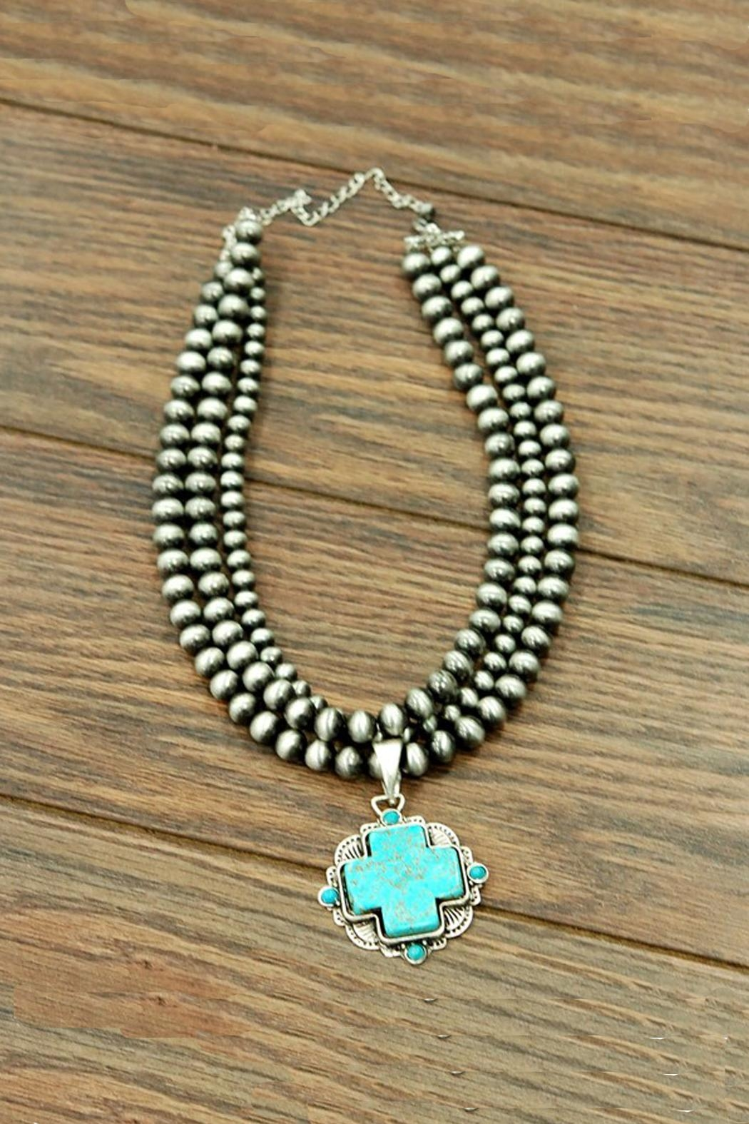JChronicles Natural-Turquoise Navajo-Pearl Necklace - Main Image