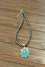 JChronicles Natural-Turquoise Navajo-Pearl Necklace - Front cropped