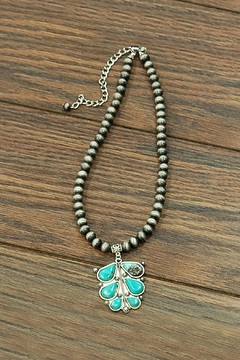 Shoptiques Product: Natural-Turquoise Navajo-Pearl Necklace