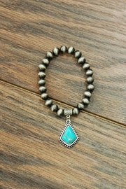 JChronicles Natural-Turquoise Navajo-Pearl Stretch-Jchroniclesbracelet - Product Mini Image