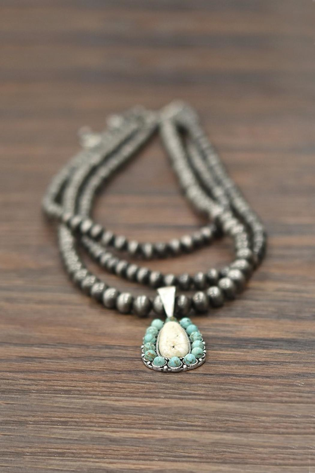 JChronicles Natural Turquoise Necklace - Side Cropped Image
