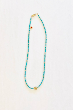 Jen Collection  Natural Turquoise Necklace - Alternate List Image