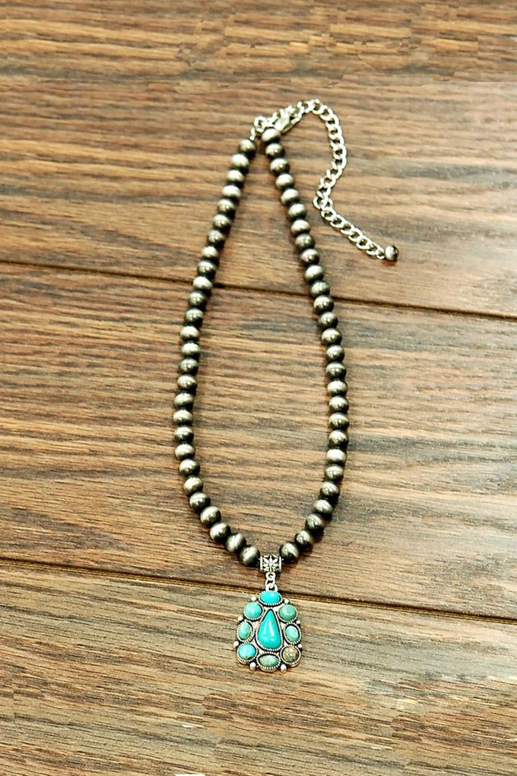 JChronicles Natural Turquoise Necklace - Front Cropped Image
